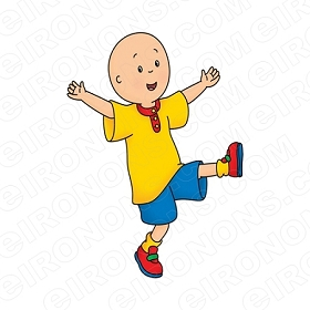 CAILLOU ON ONE FOOT CHARACTER T-SHIRT IRON-ON TRANSFER DECAL #CC10