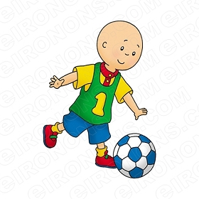 CAILLOU PLAYING BALL CHARACTER T-SHIRT IRON-ON TRANSFER DECAL #CC11