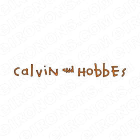 CALVIN AND HOBBES LOGO ORANGE CHARACTER T-SHIRT IRON-ON TRANSFER DECAL #CCAH9
