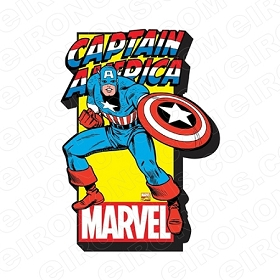 CAPTAIN AMERICA MARVEL LOGO COMIC T-SHIRT IRON-ON TRANSFER DECAL #CCA4