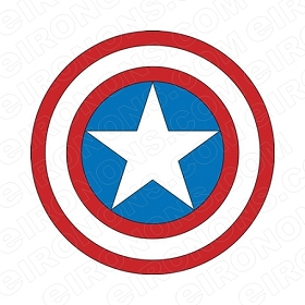 CAPTAIN AMERICA SHIELD LOGO COMIC T-SHIRT IRON-ON TRANSFER DECAL #CCA2