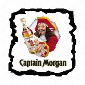 CAPTAIN MORGAN LOGO ALCOHOL T-SHIRT IRON-ON TRANSFER DECAL #ACM1