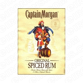CAPTAIN MORGAN LOGO ALCOHOL T-SHIRT IRON-ON TRANSFER DECAL #ACM2