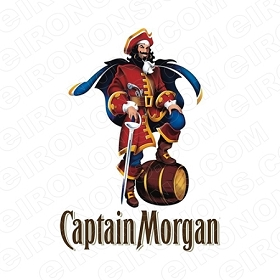 CAPTAIN MORGAN LOGO ALCOHOL T-SHIRT IRON-ON TRANSFER DECAL #ACM4