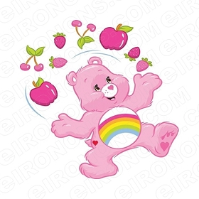 CARE BEARS CHEER BEAR JUGGLING CHARACTER T-SHIRT IRON-ON TRANSFER DECAL #CCB1