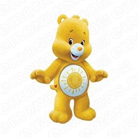 CARE BEARS FUNSHINE BEAR HAPPY CHARACTER T-SHIRT IRON-ON TRANSFER DECAL #CCB2