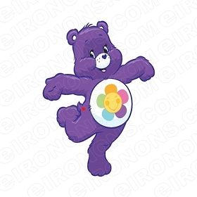 CARE BEARS HARMONY BEAR ON ONE FOOT CHARACTER T-SHIRT IRON-ON TRANSFER DECAL #CCB7