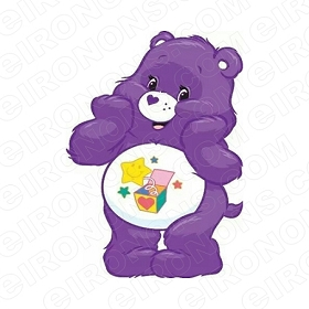 CARE BEARS SURPRISE BEAR CHARACTER T-SHIRT IRON-ON TRANSFER DECAL #CCB10