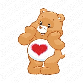 CARE BEARS TENDERHEART BEAR CHARACTER T-SHIRT IRON-ON TRANSFER DECAL #CCB11
