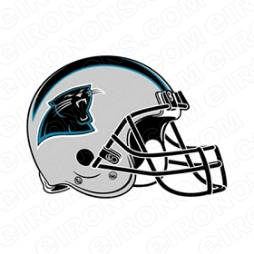 CAROLINA PANTHERS HELMET LOGO SPORTS NFL FOOTBALL T-SHIRT IRON-ON TRANSFER DECAL #SFCP1