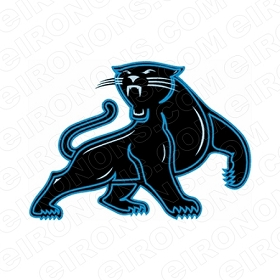 CAROLINA PANTHERS LOGO SPORTS NFL FOOTBALL T-SHIRT IRON-ON TRANSFER DECAL #SFCP2