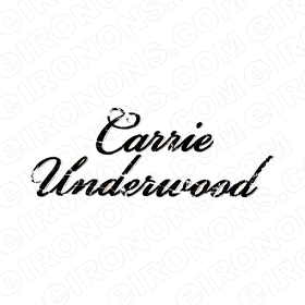 CARRIE UNDERWOOD LOGO MUSIC T-SHIRT IRON-ON TRANSFER DECAL #MCU7