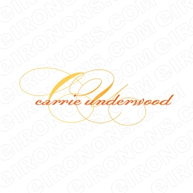 CARRIE UNDERWOOD LOGO MUSIC T-SHIRT IRON-ON TRANSFER DECAL #MCU9