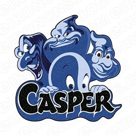 CASPER THE FRIENDLY GHOST LOGO CHARACTER MOVIE T-SHIRT IRON-ON TRANSFER DECAL #CMCTFG4