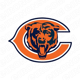 CHICAGO BEARS ALTERNATE LOGO 1999-2016 SPORTS NFL FOOTBALL T-SHIRT IRON-ON TRANSFER DECAL #SFBCB3