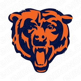 CHICAGO BEARS ALTERNATE LOGO 1999 PRESENT SPORTS NFL FOOTBALL T-SHIRT IRON-ON TRANSFER DECAL #SFBCB2