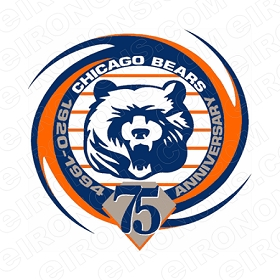 CHICAGO BEARS ANNIVERSARY LOGO 1994 SPORTS NFL FOOTBALL T-SHIRT IRON-ON TRANSFER DECAL #SFBCB4