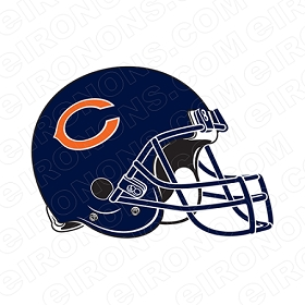 CHICAGO BEARS HELMET LOGO 1983-PRESENT SPORTS NFL FOOTBALL T-SHIRT IRON-ON TRANSFER DECAL #SFBCB6