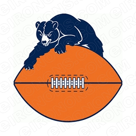 CHICAGO BEARS PRIMARY LOGO 1946-1973 SPORTS NFL FOOTBALL T-SHIRT IRON-ON TRANSFER DECAL #SFBCB7