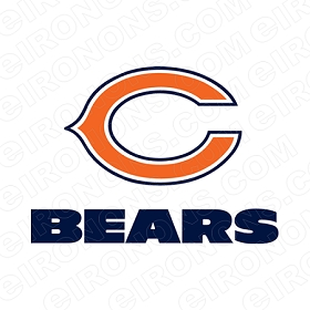 CHICAGO BEARS WORDMARK LOGO 1974-PRESENT SPORTS NFL FOOTBALL T-SHIRT IRON-ON TRANSFER DECAL #SFBCB12
