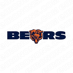 CHICAGO BEARS WORDMARK LOGO 1999-2016 SPORTS NFL FOOTBALL T-SHIRT IRON-ON TRANSFER DECAL #SFBCB13