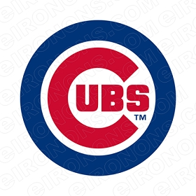 CHICAGO CUBS PRIMARY LOGO 1979-PRESENT SPORTS MLB BASEBALL T-SHIRT IRON-ON TRANSFER DECAL #SBBCC2