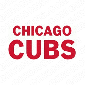 CHICAGO CUBS WORDMARK LOGO 1937-PRESENT SPORTS MLB BASEBALL T-SHIRT IRON-ON TRANSFER DECAL #SBBCC3