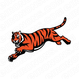 CINCINNATI BENGALS ALTERNATE LOGO 1997 PRESENT SPORTS NFL FOOTBALL T-SHIRT IRON-ON TRANSFER DECAL #SFBCB1