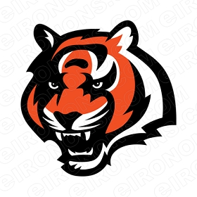 CINCINNATI BENGALS ALTERNATE LOGO 2004 PRESENT SPORTS NFL FOOTBALL T-SHIRT IRON-ON TRANSFER DECAL #SFBCB2