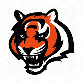 CINCINNATI BENGALS PRIMARY LOGO 1997-2003 SPORTS NFL FOOTBALL T-SHIRT IRON-ON TRANSFER DECAL #SFBCB6