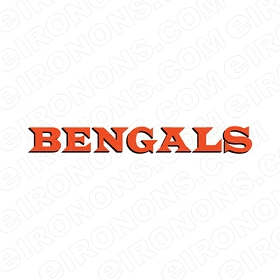 CINCINNATI BENGALS WORDMARK LOGO 1968-1970 SPORTS NFL FOOTBALL T-SHIRT IRON-ON TRANSFER DECAL #SFBCB8