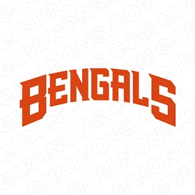 CINCINNATI BENGALS WORDMARK LOGO 1997-2003 SPORTS NFL FOOTBALL T-SHIRT IRON-ON TRANSFER DECAL #SFBCB12