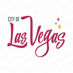 CITY OF LAS VEGAS T-SHIRT IRON-ON TRANSFER DECAL #LVS5