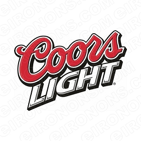 COORS LIGHT LOGO ALCOHOL T-SHIRT IRON-ON TRANSFER DECAL #ACL2