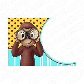 CURIOUS GEORGE BLANK EDITABLE INVITATION INSTANT DOWNLOAD #ICG1