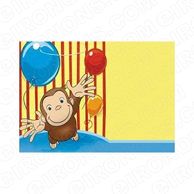 CURIOUS GEORGE BLANK EDITABLE INVITATION INSTANT DOWNLOAD #ICG5