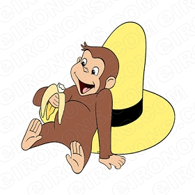 CURIOUS GEORGE BANANA CHARACTER CLIPART PNG IMAGE SCRAPBOOK INSTANT DOWNLOAD