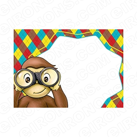 CURIOUS GEORGE BLANK EDITABLE INVITATION INSTANT DOWNLOAD #ICG3