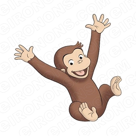 CURIOUS GEORGE HAPPY CHARACTER CLIPART PNG IMAGE SCRAPBOOK INSTANT DOWNLOAD