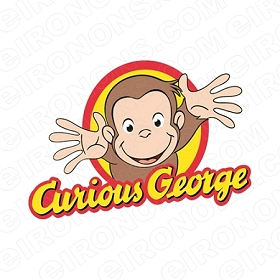 CURIOUS GEORGE LOGO CHARACTER T-SHIRT IRON-ON TRANSFER DECAL #CCG2