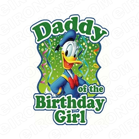 DADDY OF THE BIRTHDAY GIRL SAYINGS T-SHIRT IRON-ON TRANSFER DECAL #BS16