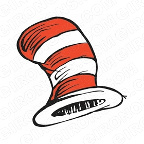 DR SEUSS HAT CHARACTER T-SHIRT IRON-ON TRANSFER DECAL #CDS16