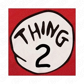 DR SEUSS THING 2 CHARACTER T-SHIRT IRON-ON TRANSFER DECAL #CDS10