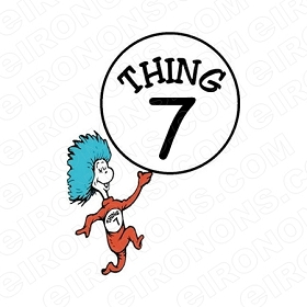 DR SEUSS THING 7 CHARACTER T-SHIRT IRON-ON TRANSFER DECAL CDS20