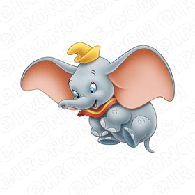 DUMBO IN AIR CHARACTER T-SHIRT IRON-ON TRANSFER DECAL #CD4