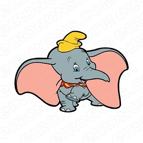 DUMBO LEG UP CHARACTER T-SHIRT IRON-ON TRANSFER DECAL #CD7
