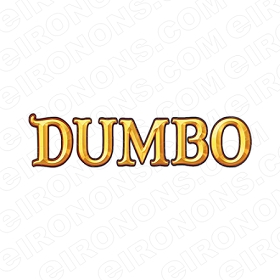 DUMBO LOGO CHARACTER T-SHIRT IRON-ON TRANSFER DECAL #CD9