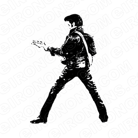 ELVIS PRESLEY BACK VIEW MUSIC T-SHIRT IRON-ON TRANSFER DECAL #MEP1