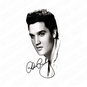 ELVIS PRESLEY HEAD SHOT MUSIC T-SHIRT IRON-ON TRANSFER DECAL #MEP2