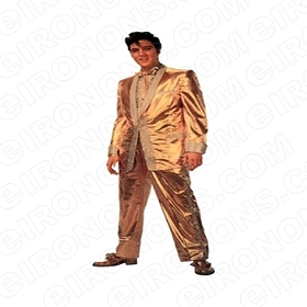 ELVIS PRESLEY IN GOLD SUIT MUSIC T-SHIRT IRON-ON TRANSFER DECAL #MEP4